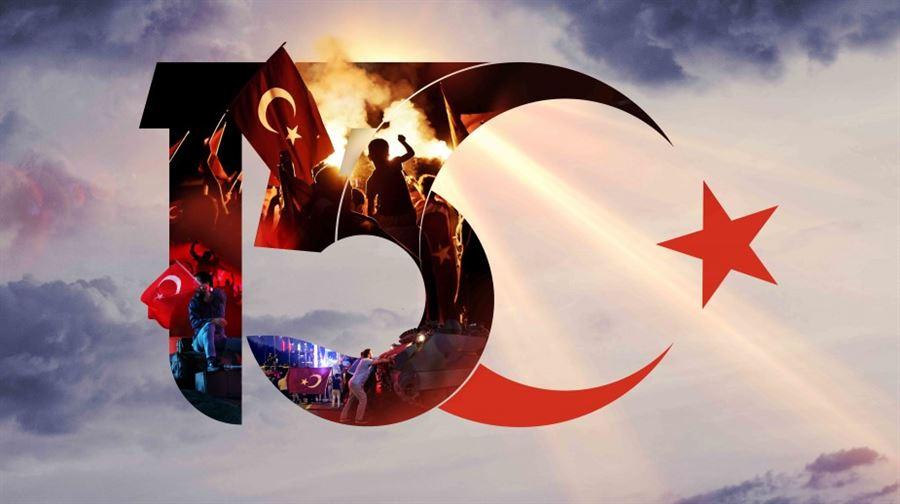 15 Temmuz Demokrasi ve Milli Birlik Günü'nde Kahraman Şehitlerimizi Saygı, Minnet ve Rahmetle Anıyoruz