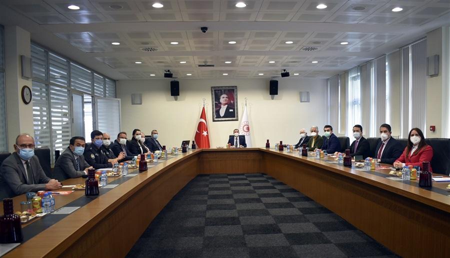 Halk Sağlığı Anabilim Dalı Başkanları ve Birleşmiş Milletler Örgütü Personelleri ile Kapıkule'de COVİD-19 Salgınla Mücadele Toplantısı Yapıldı